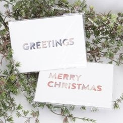 Monograph Christmas Cards -Set/2 -9.5cmx13.5cm