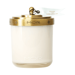 Mor Basil and Geranium Scented Candle