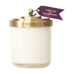 Mor Green Fig and Sandlewood Scented Candle
