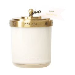 Mor Rose and Patchouli Scented Candle