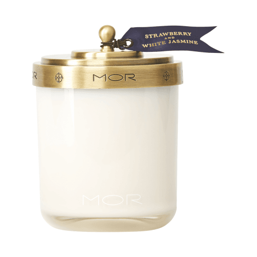 Mor Strawberry and White Jasmine Scented Candle