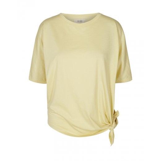 Mos Mosh Avita Wash Tie Top - Shadow Lime