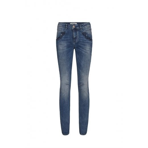Mos Mosh Denim Jeans with Embroidery