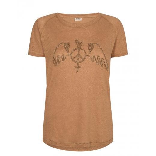 Mos Mosh Mag Linen Tee Shirt
