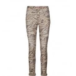 Mos Mosh Naomi Stitch Jeans - Light Green