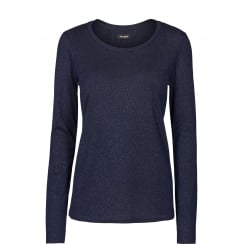 Mos Mosh Round Neck, Long Sleeve Top