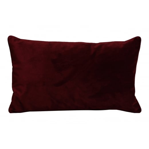 My Bolig Velour Cushion - Bordeaux
