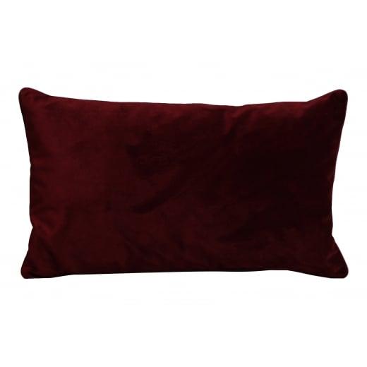 My Bolig Velour Cushion - Bordeaux