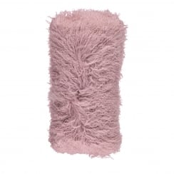 Natures Collection Tibetan Sheepskin Cushion -Dusty Rosa