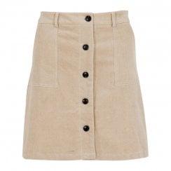 Neo Noir Cinna Mini Cord Skirt - Creme