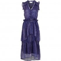 Neo Noir Selma Printed Dress - Lavender
