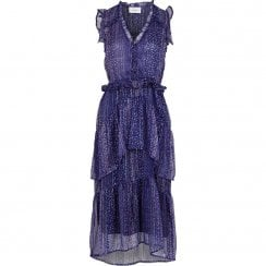 Neo Noir Selma Printed Dress - Lavender