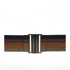 Nooki Lurex Elasticated Belt - Copper Stripe