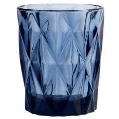 Nordal Diamond Design Tumbler Glass - Blue