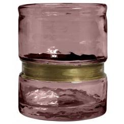 Nordal  Ring Glass T-light Holder - Purple