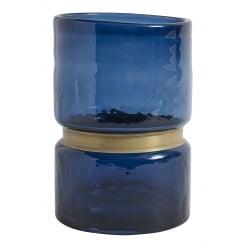 Nordal Ring Glass Vase (Large) - Blue