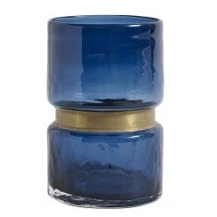 Nordal Ring Glass Vase (Medium) - Blue