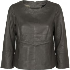Onstage Leather Top with Fine Joints - Urban Green