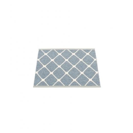 Pappelina Diamond Pattern Mat/Rug - Blue/Vanilla