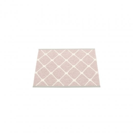 Pappelina Diamond Pattern Mat/Rug - Pale Rose/Vanilla