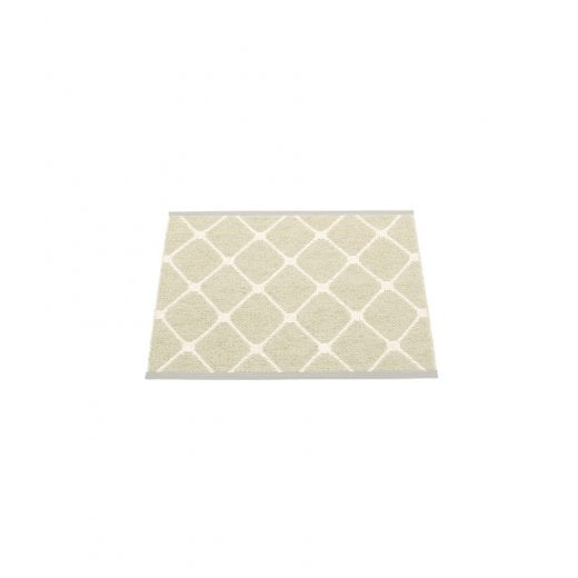 Pappelina Diamond Pattern Mat/Rug - Seagrass/Vanilla