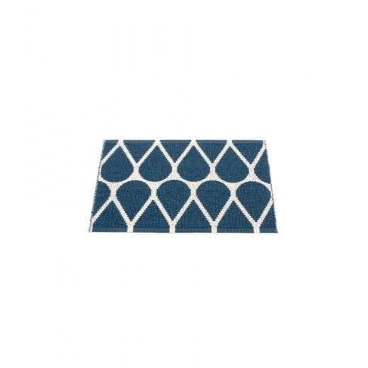 Pappelina Drop Style Mat/Rug - Blue/Vanilla