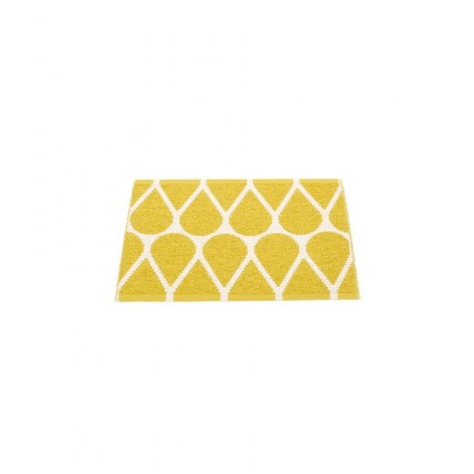 Pappelina Drop Style Mat/Rug - Mustard/Vanilla