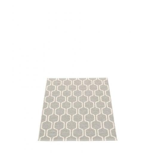 Pappelina Hexagon Design Mat/Rug - Grey/Vanilla