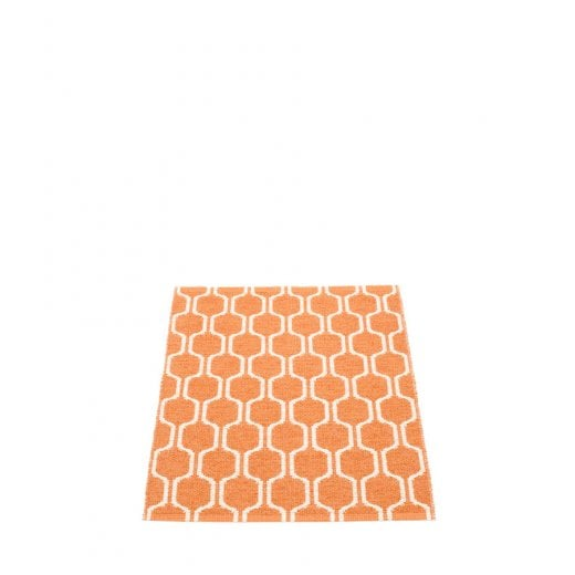 Pappelina Hexagon Design Mat/Rug - Orange/Vanilla