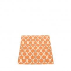 Pappelina Hexagon Design Mat/Rug - Orange/Vanilla
