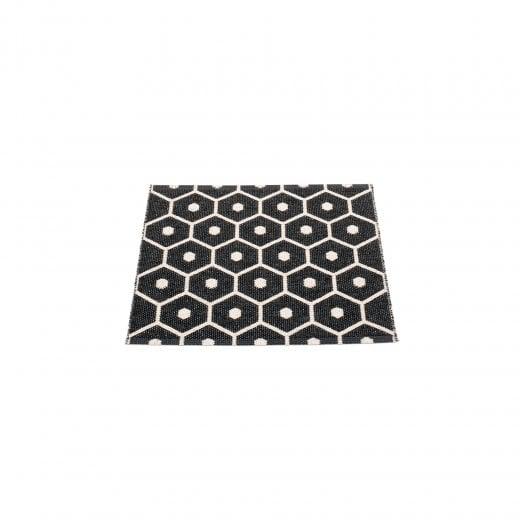 Honeycomb Design Mat/Rug - Black/Vanilla
