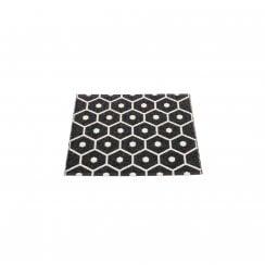 Pappelina Honeycomb Design Mat/Rug - Black/Vanilla