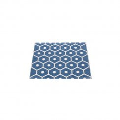 Pappelina Honeycomb Design Mat/Rug - Denim/Vanilla