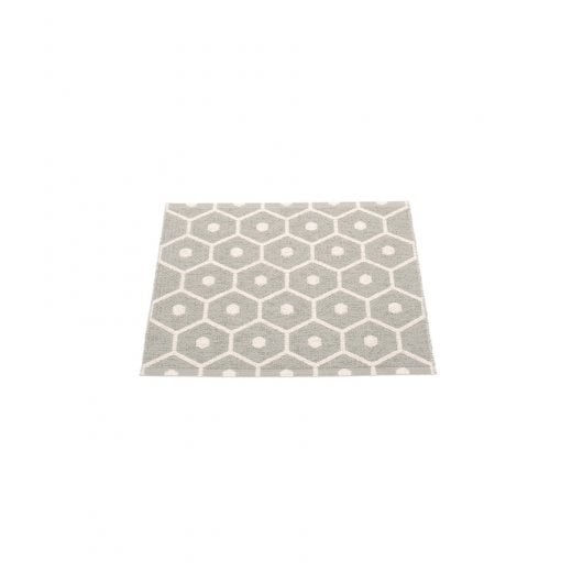 Pappelina Honeycomb Design Mat/Rug - Warm Grey/Vanilla