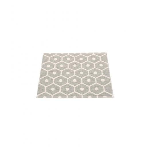 Pappelina Honeycomb Design Mat/Rug - Warm Grey/Vanilla