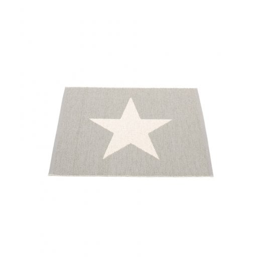 Pappelina Star Design Mat/Rug - Warm Grey/Vanilla