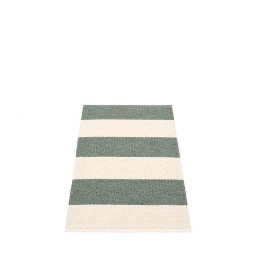 Pappelina Striped Design Mat/Rug - Green/Vanilla