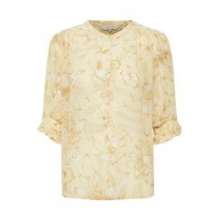 Part Two Caras Shirt - Yellow Flower Print