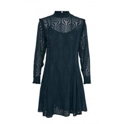 Part Two High Neck Long Sleeved Lace Dress