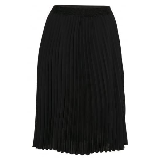 Part Two Mid Calf Length Plissé skirt