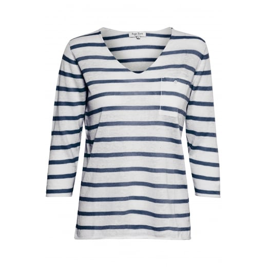 Part Two V-Neck Jumper with Stripes