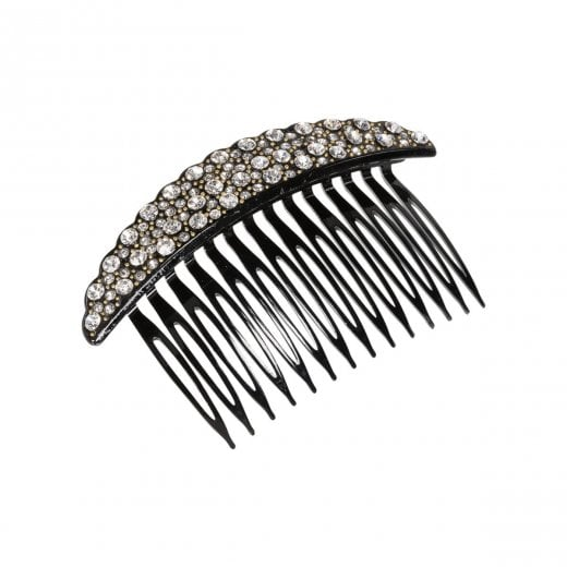 Pico Crystal French Comb - Black
