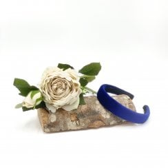 Pico Dahlia Velour HairBand  - Cobolt Blue