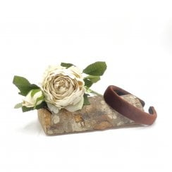 Pico Dahlia Velour HairBand - Mocca