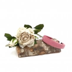 Pico Dahlia Velour HairBand  - Raspberry