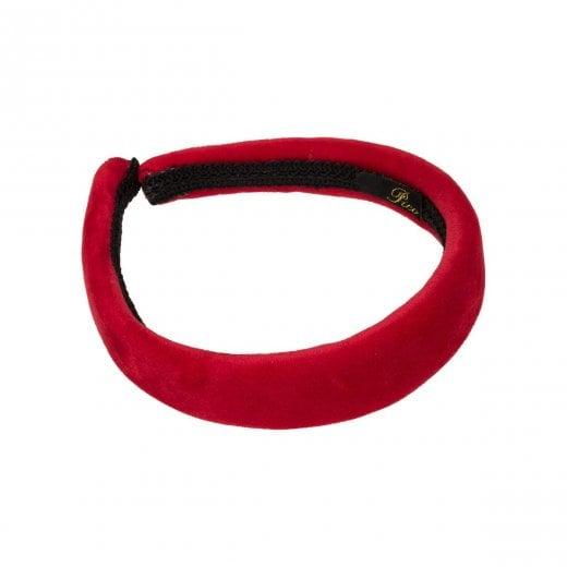 Pico Dahlia Velour HairBand  - Red