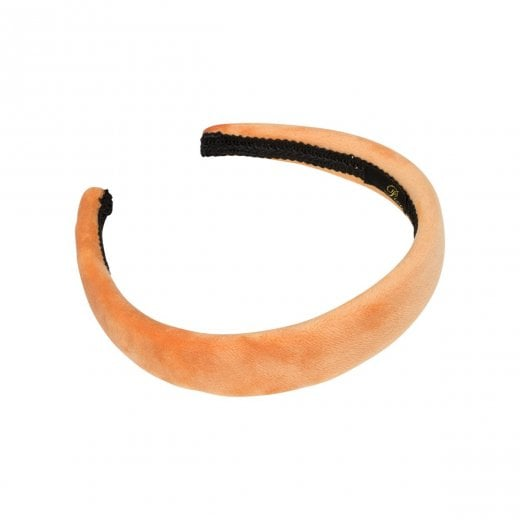 Pico Dahlia Velour HairBand  - Soft Orange