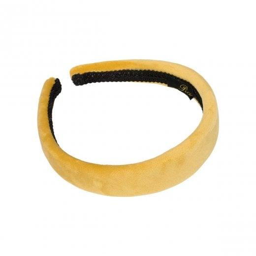 Pico Dahlia Velour HairBand  - Yellow