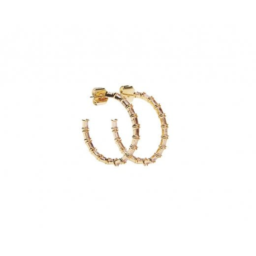 Pico Earrings Hoop Baguette Classic Champagne