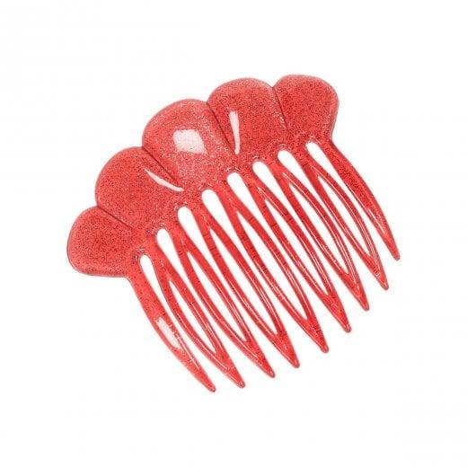 Pico French Fan Hair Comb - Salmon